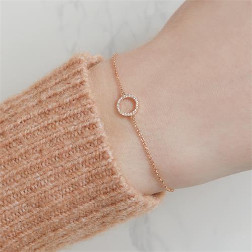 Damen Armband Kreis aus 750er Roségold