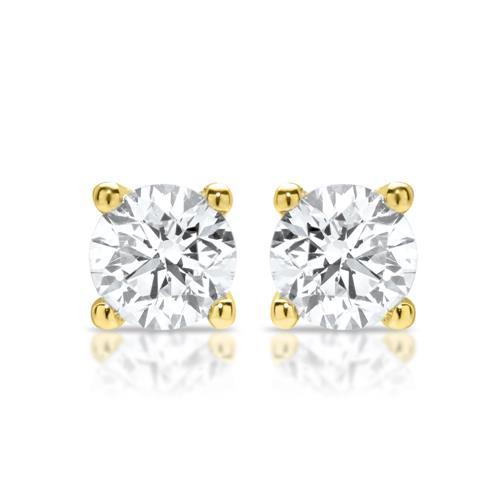 14-Karat-Ohrstecker echte Diamanten 0,45 ct.