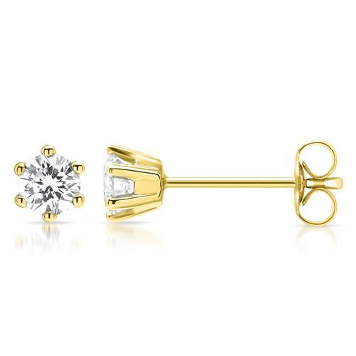 585er Echtgold Ohrstecker mit Diamanten 0,45ct.