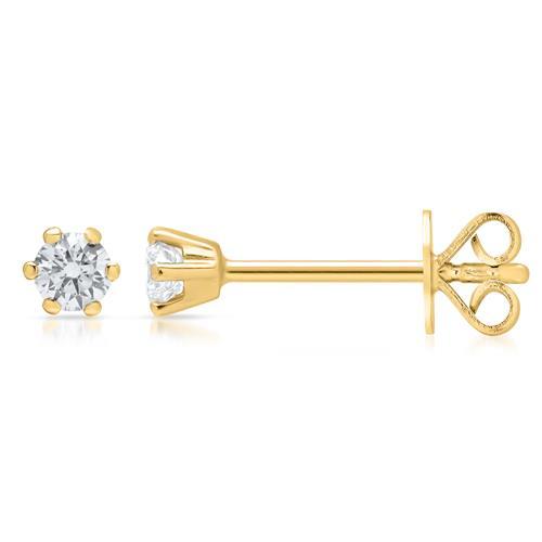585er Gelbgold Ohrstecker mit Diamanten 0,32 ct.