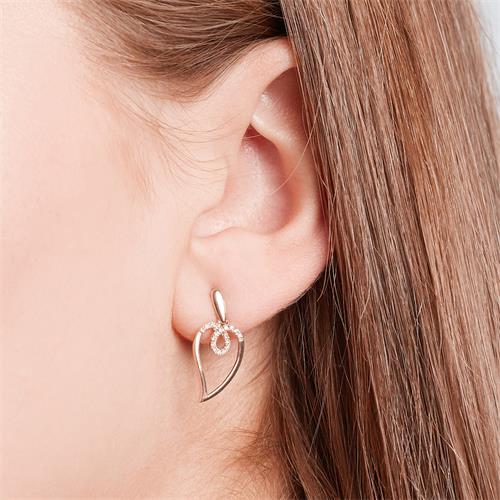 Diamant Ohrhänger 585er Rotgold 0,090 ct gesamt