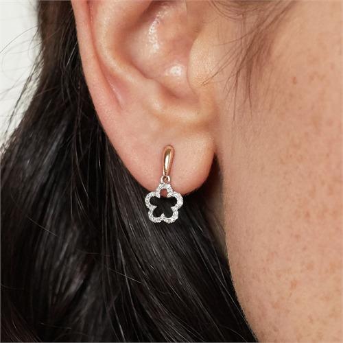 Blüten Diamantohrschmuck 0,1 ct gesamt