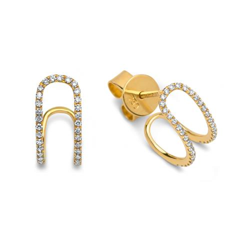 Ohrschmuck 70 Diamanten 0,20 ct 750 Gelbgold