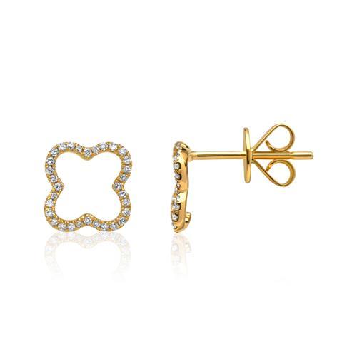 Diamantohrschmuck 0,16 ct 750er Gelbgold