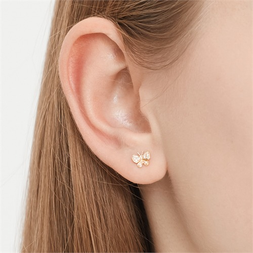 Ohrringe 750er Gelbgold 24 Diamanten 0,07 ct.