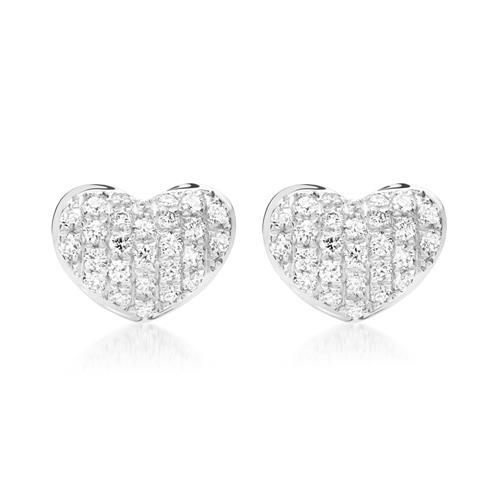 Ohrringe 750er Weißgold 52 Diamanten 0,20 ct.