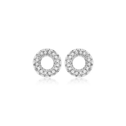 Weißgold-Ohrstecker 32 Diamanten 0,12ct.
