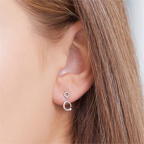 Ohrringe 585er Weißgold 2 Diamanten 0,02 ct.
