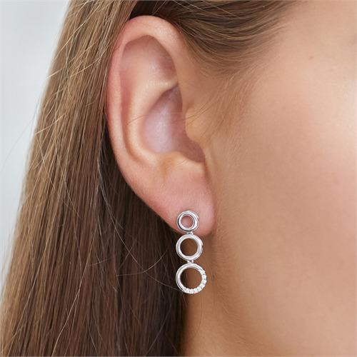 Ohrringe 585er Weißgold 16 Diamanten 0,08 ct.