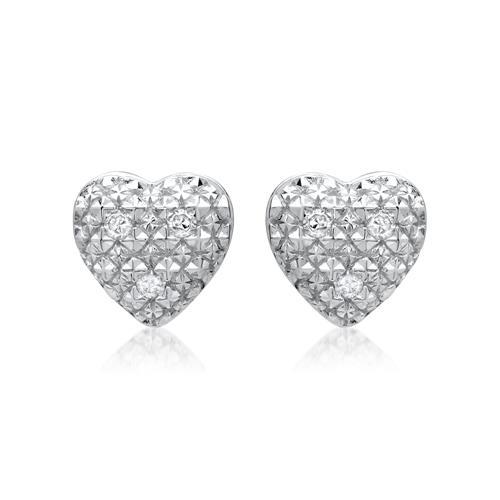 Ohrringe 585er Weißgold 6 Diamanten 0,03 ct.