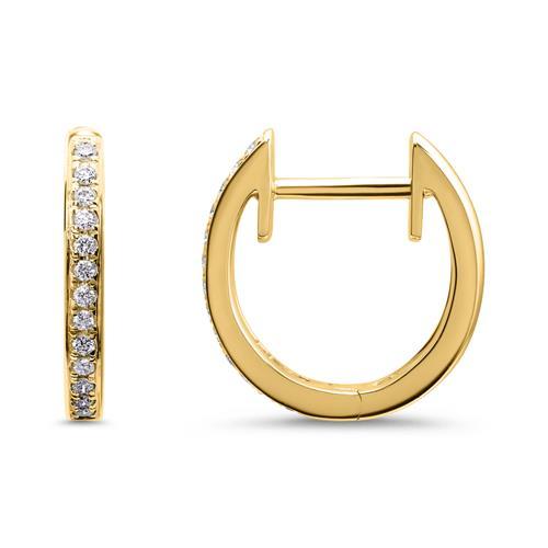 585er Gold Creolen mit Diamanten