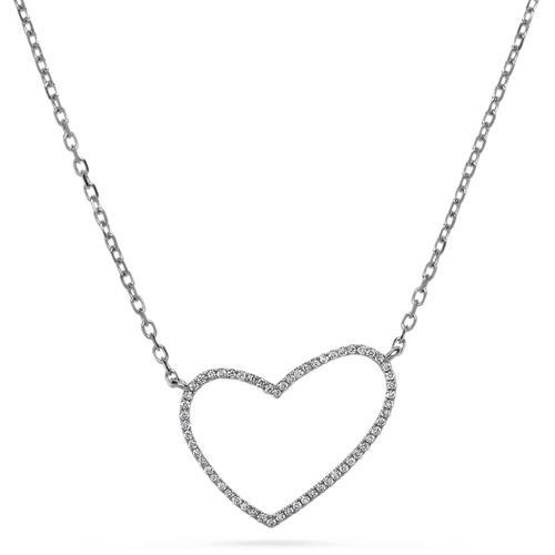 Diamantcollier 0,17 ct Herz 750er Weißgold