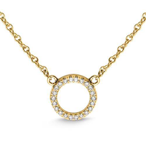 Kette Kreis 750er Gelbgold 22 Diamanten 0,07 ct.