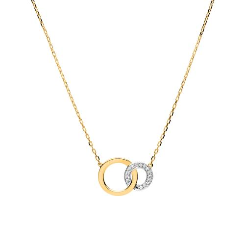 Kette Kreise aus 585er Gold Diamanten