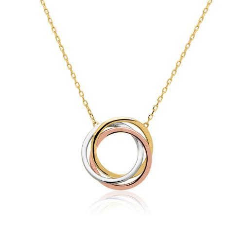 585er Goldkette Kreise tricolor