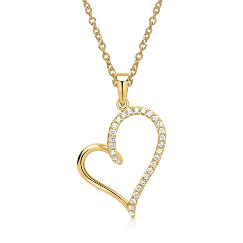Kette Herz 750er Gelbgold 29 Diamanten