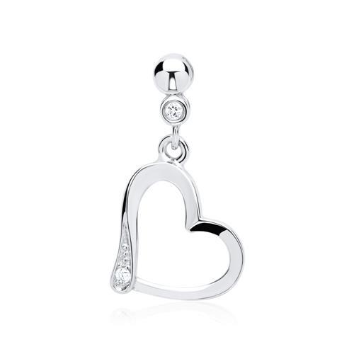 Kette Weißgold Herz 2 Diamanten 0,018 ct.