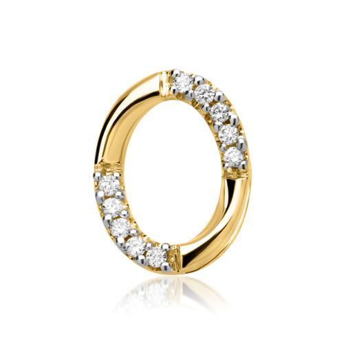 585er Gelbgold-Anhänger 10 Diamanten