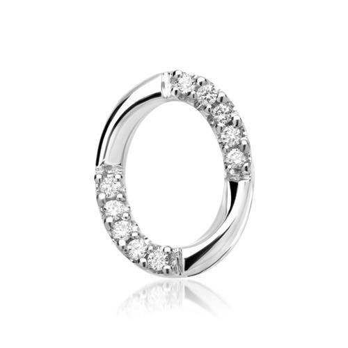 Kette 585er Weißgold 10 Diamanten 0,07 ct.