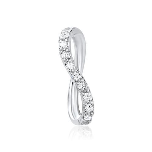 585er Weißgold-Kette 9 Diamanten 0,0855 ct.