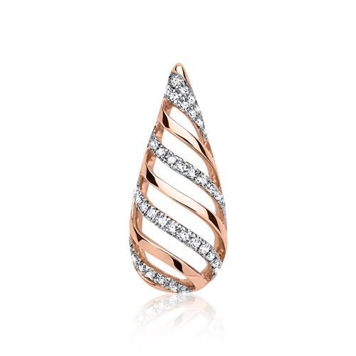 Diamant Anhänger 39 Diamanten 585er Gold