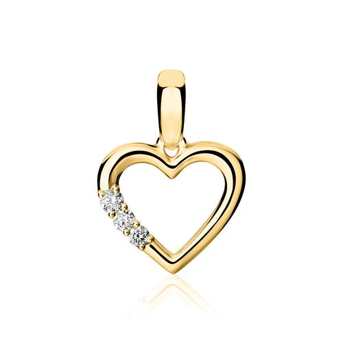 750er Gold Anhänger Herz mit Brillanten