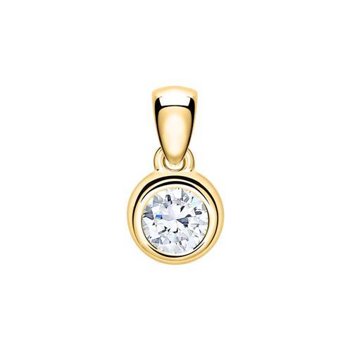 Kette aus 585er Gold mit Diamant