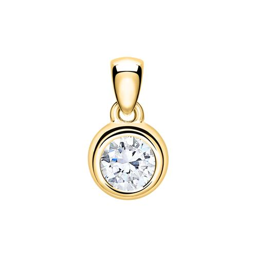 Damen Anhänger aus 14K Gold mit Diamant