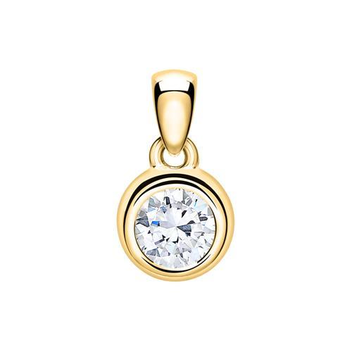 14K Goldanhänger für Damen mit Diamant