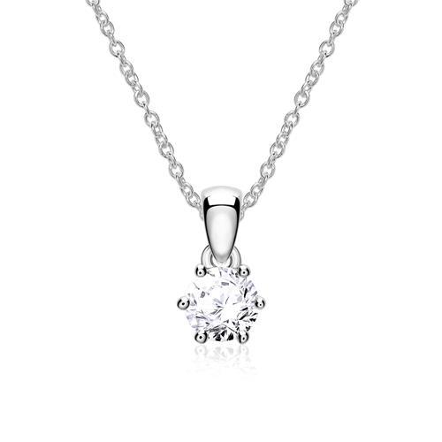 Kette für Damen aus 14K Weißgold mit Diamant
