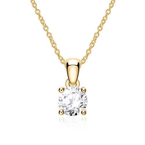 Diamantanhänger für Damen aus 585er Gold