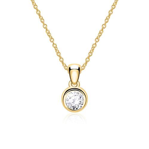 585er Goldkette mit einem Brillant