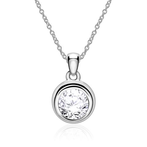 14 Carat White Gold Diamond Pendant