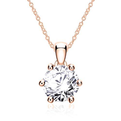 Damenkette aus 585er Roségold mit Diamant