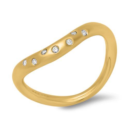 585er gelbgold ring mit brillanten 0 0525 ct dr0033. Black Bedroom Furniture Sets. Home Design Ideas