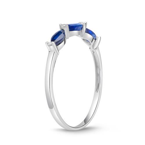 Filigraner Ring Saphire Diamanten 0,64 ct gesamt