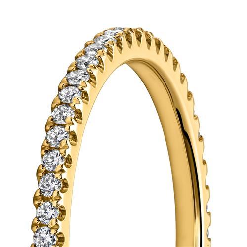 Eternityring Diamantring 750er Gelbgold