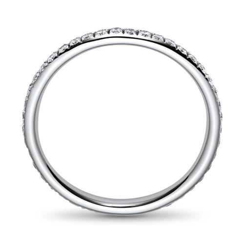 Filigraner Diamantring aus 750er Weißgold