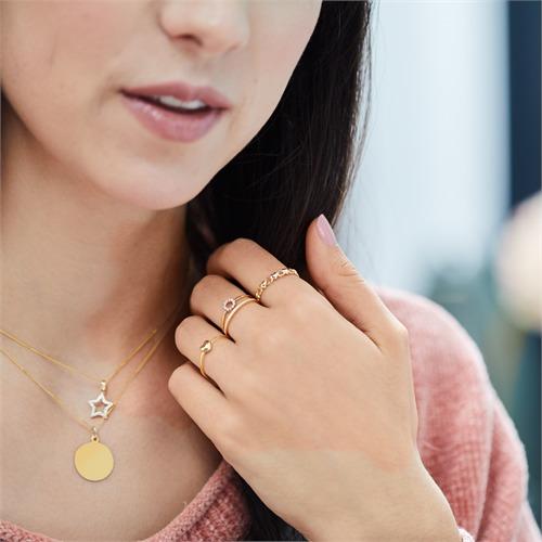 Diamantring aus 750er Gelbgold Diamanten