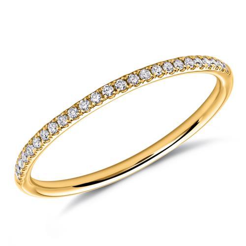 Filigraner Diamantring aus 750er Gelbgold