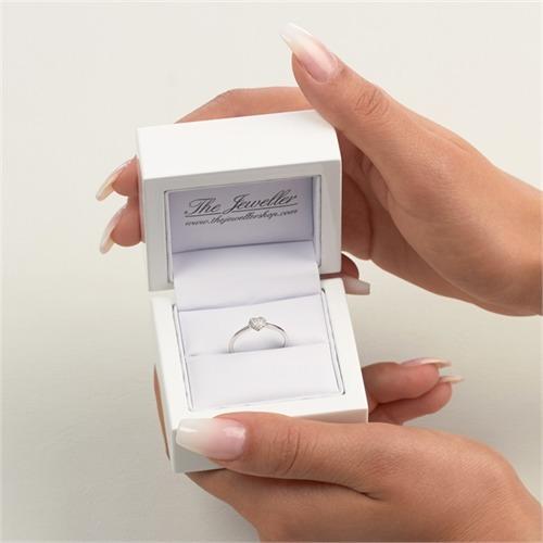 Diamantring Herzmotiv 0,10 ct 750er Weißgold