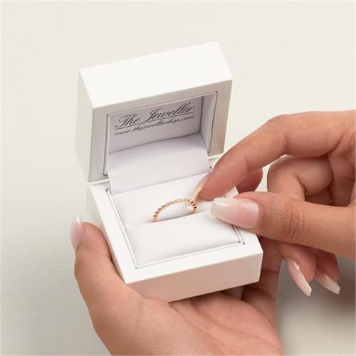 750er Rotgold Eternity Ring 13 Diamanten