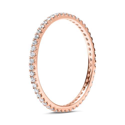 Eternity Ring 750er Roségold 50 Diamanten