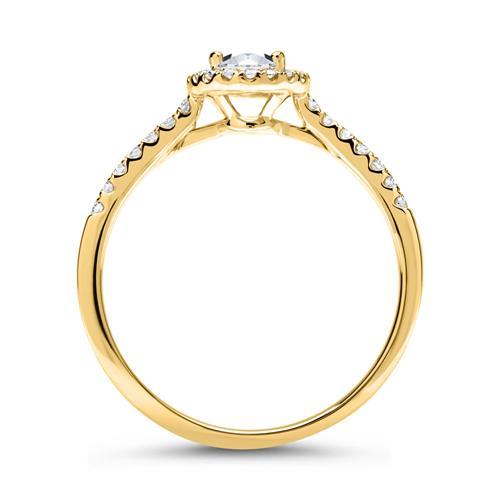 Halo Ring 14 Karat Gold mit Diamanten
