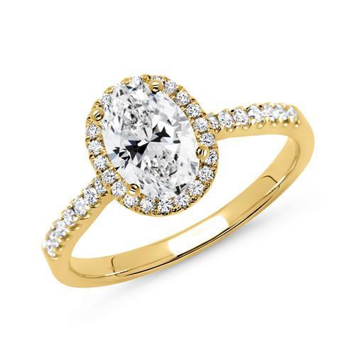18 Karat Gold Verlobungsring mit Diamanten