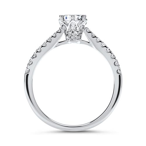 750er Weißgold Ring mit Diamanten