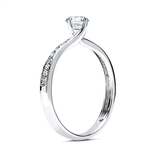 Ring 585er Weißgold mit Diamanten