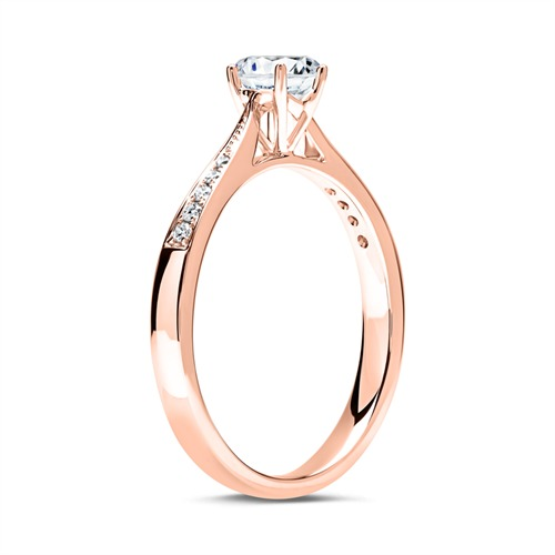 Ring 585er Roségold mit Diamanten