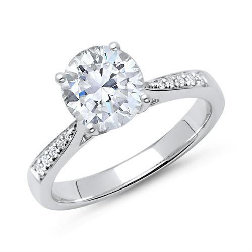 verlobungsring 750er wei gold mit diamanten dr0147 18kw. Black Bedroom Furniture Sets. Home Design Ideas