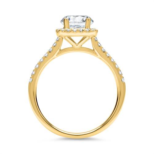 Halo Ring 750er Gold mit Brillanten